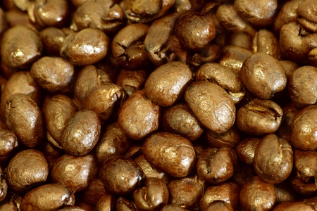 Close up photo from coffee beans Stock Photo