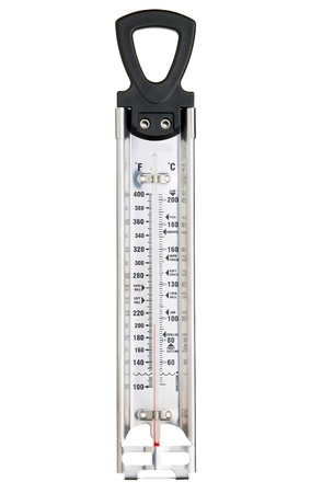 boiling point: Thermometer on Isolated White Background