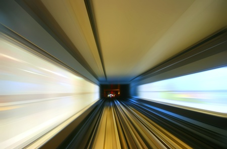background of the high-speed train with motion blur outdoor Stock Photo - 12865040