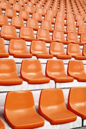 the repeat of football stadium Seats  Standard-Bild