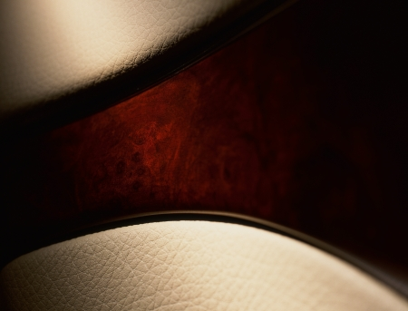brown leather sofa: closeup of leather background