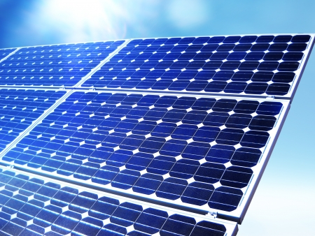 solarpanel: Renewable alternative solar energy, sun-power plant