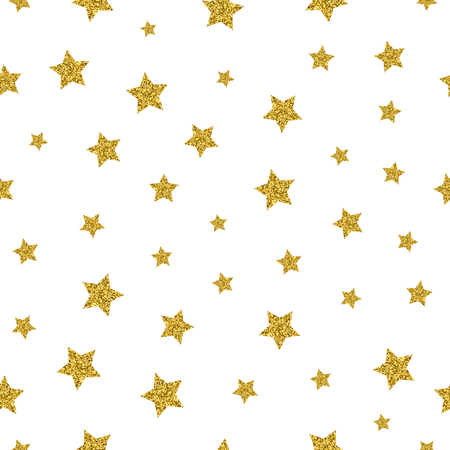 star pattern: Gold stars vector seamless pattern. Sparkling star gold, seamless gold star, pattern decoration star illustration