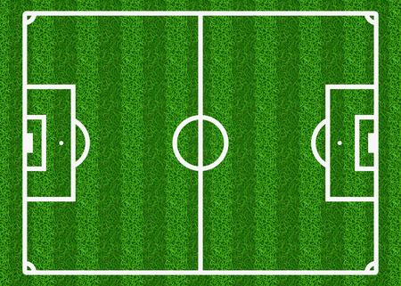 soccer field: European football, soccer vector field. Football field, sport field play, green field, soccer field illustration Illustration