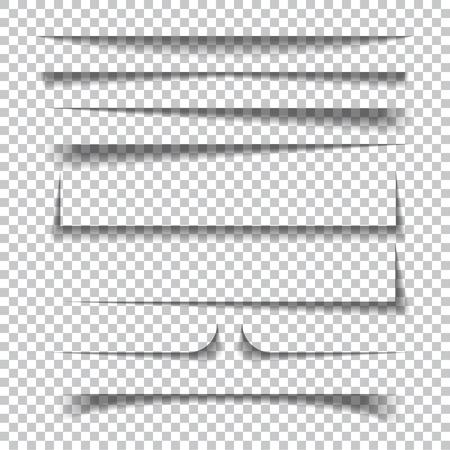 Effetti ombra di carta realistica trasparente effetti sullo sfondo a scacchi. Illustrazione vettoriale