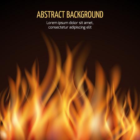 抽象的な火災炎のベクトルの背景。火災熱い炎と電源火災の図