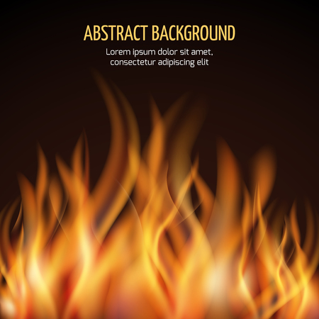 blaze: Abstract fire flame vector background. Fire hot blaze and power fire illustration