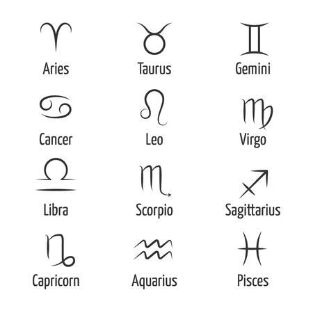 constellation sagittarius: Hand drawn zodiac vector symbols. Horoscope zodiac constellation illustration and virgo leo and sagittarius zodiac sign