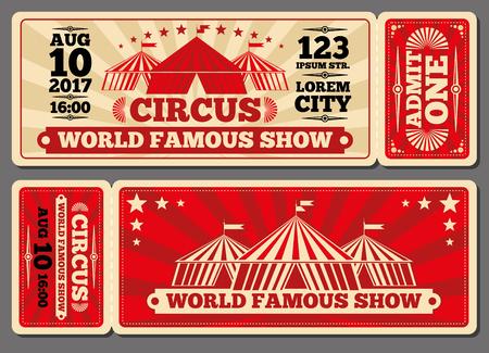 Circus Magic Show Entrance Vector Tickets Templates. Ticket For ...