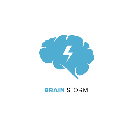 Brainstorming creative idea, smart cloud vector concept. Business brainstorming concept or brainstorming logo template