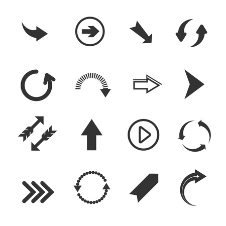 redo: Arrow icons. Vector set of round arrows, undo and redo signs, recycling arrows on white background