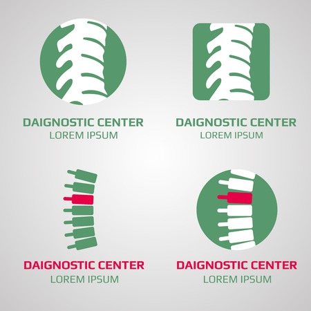 diagnostic: spine diagnostic center . Medical diagnostic clinic, illustration of template clinic