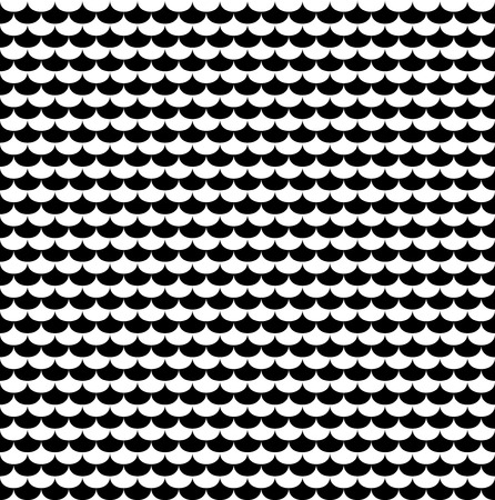 modular rhythm: Scales seamless pattern in black and white. Texture background with abstract graphic, vector illustration