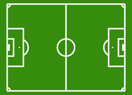 soccer field: Soccer field or football pitch. Football stadium for competition play, vector illustration