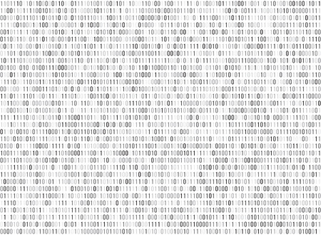 cryptogram: Binary matrix computer data code vector seamless background. Binary code for programming, illustration of digital code