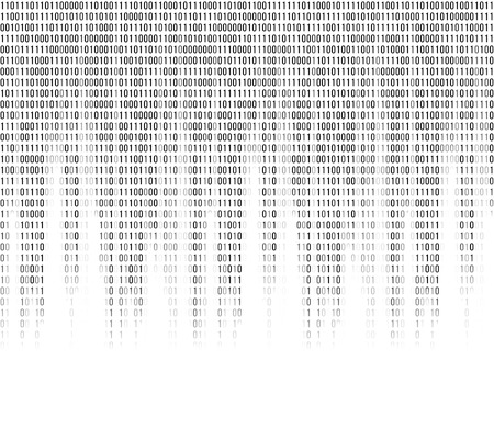 cryptogram: Virtual computer binary code abstract background. Continuous cryptogram code, illustration of program in binary code. Vector illustration