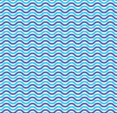 ocean wave: Blue ocean waves marine seamless pattern. Illustration wave line texture, vector backdrop nautical Illustration