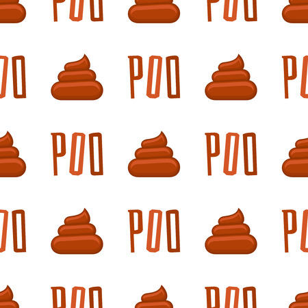 shit: Poo seamless pattern. Background with poop and pile shit, vector illustration