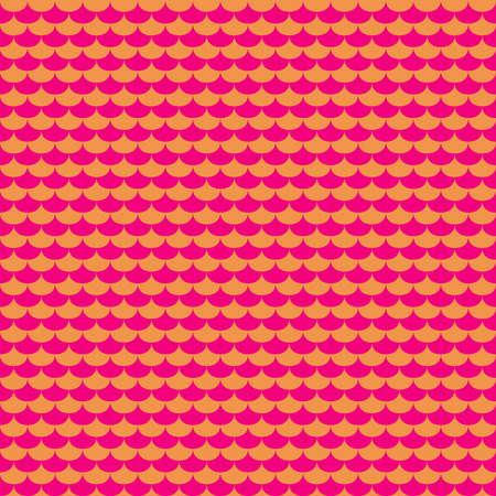 Pink and orange scales seamless pattern. Abstract colorful textile graphic, vector illustration