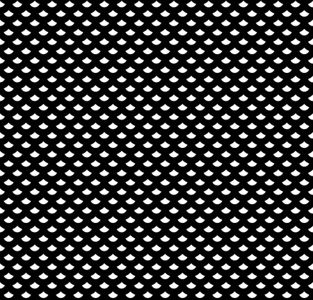 modular rhythm: Scales seamless pattern in black and white. Backdrop textile fabric, vector illustration Illustration