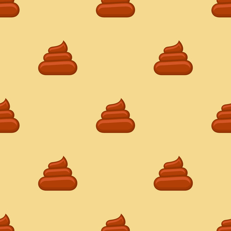 excrement: Poo seamless pattern. Background with poop, excrement smell, vector illustration Illustration