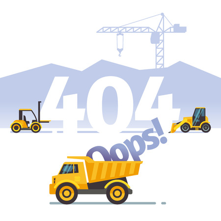 404 error vector not found web page concept. Problem with website illustration Ilustrace