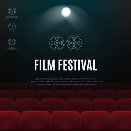 cinematograph: Cinema, film festival vector abstract poster, background. Banners for the cinematograph festival illustration
