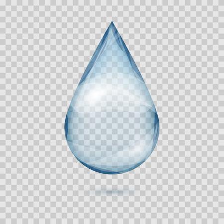 格子縞の背景イラストを分離した透明な水ドロップ ベクトルを落下