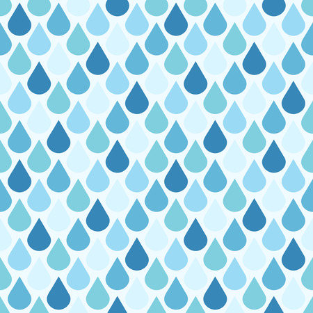 condensation on glass: Blue vector water drops seamless pattern. Background wet droplet illustration