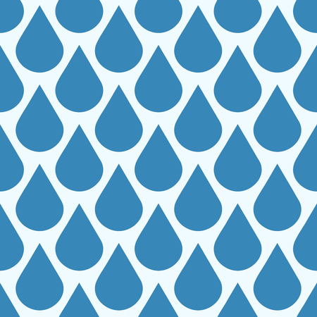 condensation: Blue vector falling water drops seamless pattern. Background wet condensation illustration Illustration