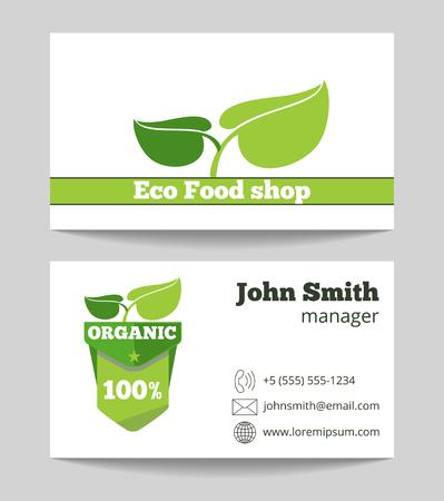 Organic fruits farmer business card template fruit farm company 63061345 organic eco food shop business card template fresh green market vector illustration colourmoves