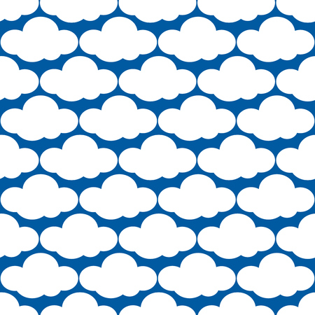 heaven background: Vector clouds weather seamless pattern. Overcast and heaven background illustration