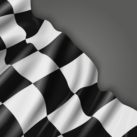 formula one: Abstract vector background with checkered racing flag. Signal for formula one illustration Illustration