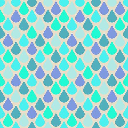 틸 및 자주색 물 완벽 한 패턴을 삭제합니다. 초록빛 비가 벽지, 벡터 일러스트 레이션 일러스트