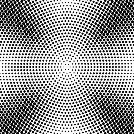 Vecteur d'arrière-plan abstrait demi-teinte en pointillé radial. Motif avec illustration de points noirs Vecteurs