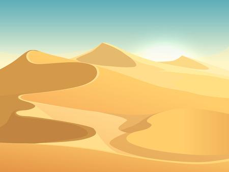 Desert dunes vector egyptian landscape background. Sand in nature illustration