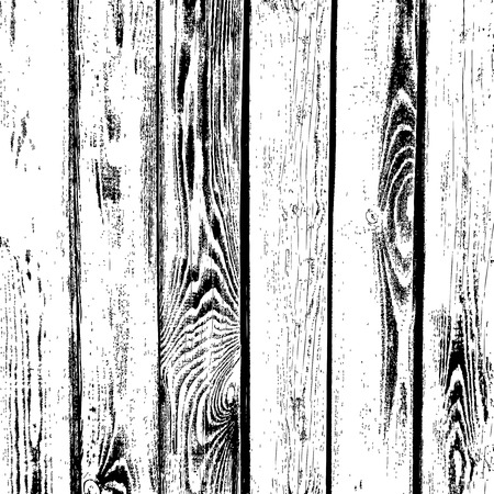 Wooden planks vector texture. Old wood grain textured background. Grunge board vintage, floor or table illustration Stock Illustratie