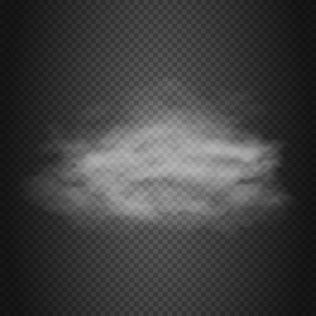 dust cloud: Smoke cloud, steam, dust vector background. Transparent mist from vapor illustration
