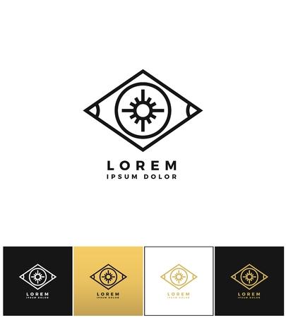 detective agency: Eye vector or looking control icon.
