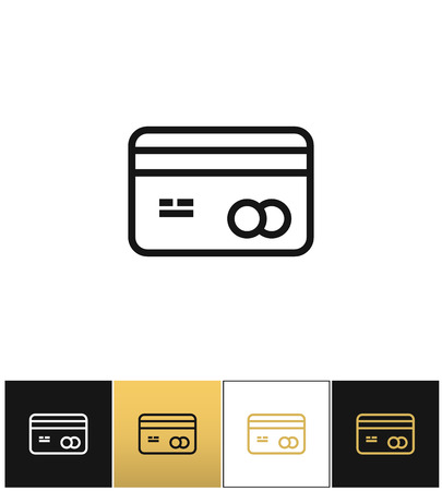 Business card or credit card vector icon business card or credit business card or credit card vector icon business card or credit card pictograph on black reheart Images