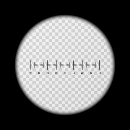 monocular: Monoculars, spyglass view vector template. View with monocular, shape of optics monoculars illustration
