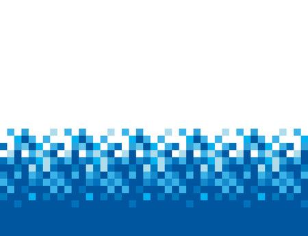 Pixel azulejos cuadrados, mosaico de vectores de fondo abstracto. Patrón de píxeles azules, ilustración de píxeles cuadrados Ilustración de vector