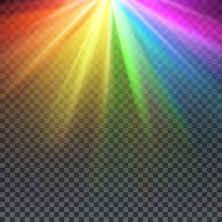 spectrum: Rainbow glare spectrum with gay pride colors vector illustration. Spectrum color shiny, bright abstract spectrum light Illustration