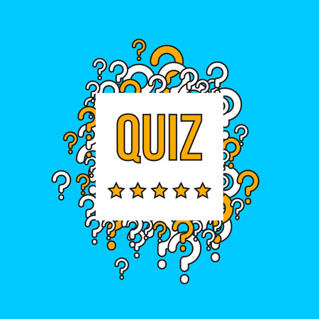 Quiz test vector background with question marks. Quiz concept banner, test quiz with question illustration