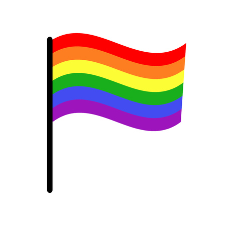 homosexuality: Vector gay LGBT rights rainbow flag. Freedom homosexuality banner illustration