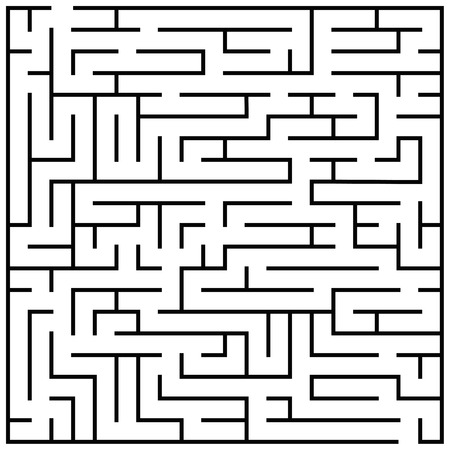 teaser: Maze puzzle, labyrinth brain teaser kids game vector. Illustration of labyrinth game, labyrinth for play children Stock Photo
