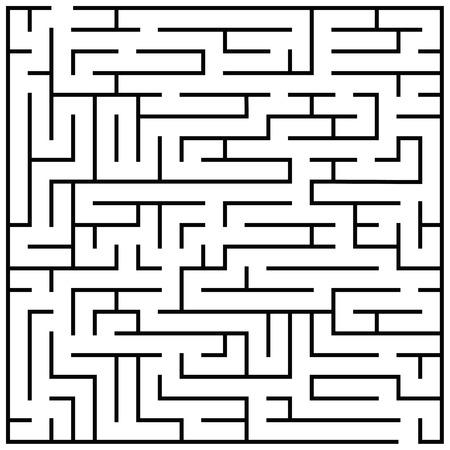 Maze puzzle, labyrinth brain teaser kids game vector. Illustration of labyrinth game, labyrinth for play children Stock Photo