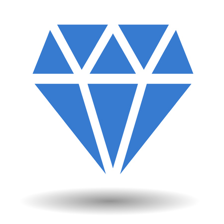Diamond vector icon isolated over white. Precious luxury stone illustration