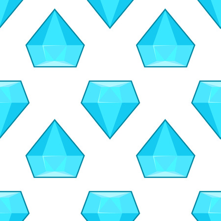 Vector blue diamonds seamless pattern. Background with geometric stone illustration