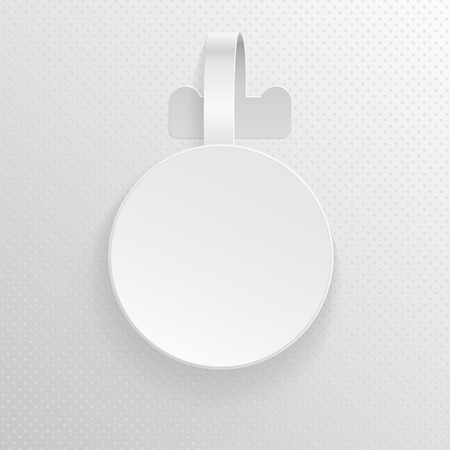 Plastic advertising wobbler, round papper price tag vector template. Promotion label wobbler for price illustration of wobbler tag for discount